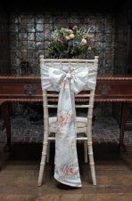 Watercolour floral sash by The Vintage Sash Company