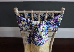 The purple and yellow sash by The Vintage Sash Company