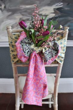 Pink Liberty sash by The Vintage Sash Company